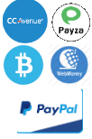 Accepting ccavenue, PayPal and major credit and debit cards